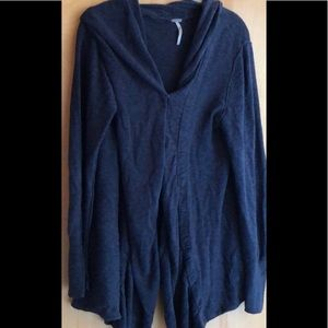 Free People dark blue waterfall cardigan size L